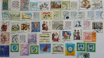 150 Different Estonia Stamp Collection - Post 1991