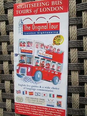 The Original Tour London Map.Tourist The Original Tour Sightseeing Bus Tours Of London 2000