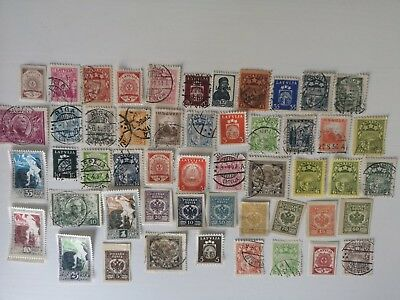 100 Different Latvia Stamp Collection - Pre 1940