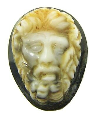2nd - 3rd century A.D Ancient Roman Hardstone Agate Cameo of a Bearded Male Head
