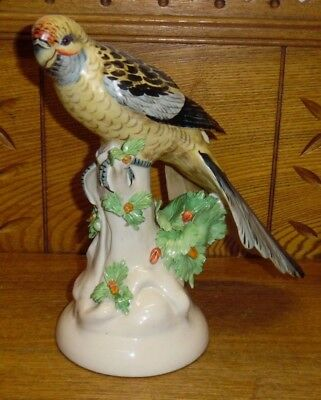 Mottahedeh Design Porcelain Parrot 6771 Bird Figurine - Made In Italy - Damaged