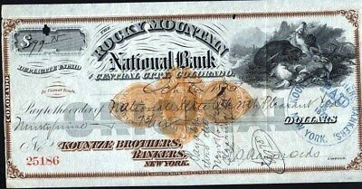 Rocky Mountain National Bank, Central City, Co, With Imprinted Rev. (Great Vig.)