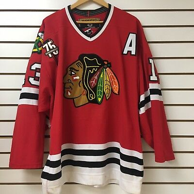 Vintage Chicago Blackhawks Hockey Jersey Size 52 Alexei Zhamnov Fight Strap e15737dd8f2