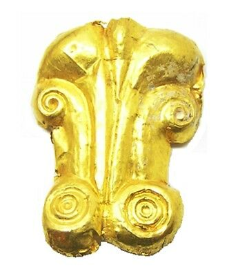 5th century B.C. Wonderful Ancient Scythian Greek Gold Appliqué Repoussé Design