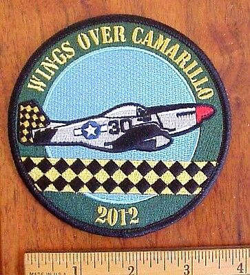 2012 Wings Over Camarillo Ca.usaf Ww Ii P 51-D Mustang Aircraft Air Show Patch