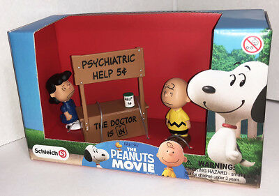 Psychiatric Booth Charlie Brown and Lucy Figurines from The Peanuts Movie 22034