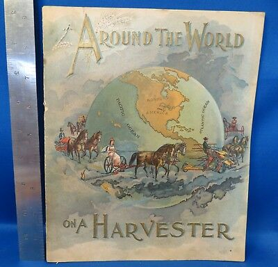 1895 Around The World On A Harvester Catalog / Brochure, Good Condition,