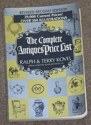 The Complete Antiques Price List Revised Second Edition, 1969 Paperback By Kovel