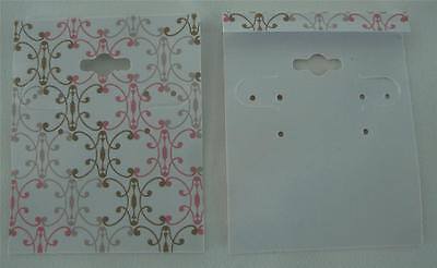 Qty. 25 Romantic Plastic Earring Cards Hold Merchandise Price Tags