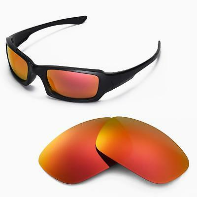 e35d04ecdf Walleva Polarized Fire Red Replacement Lenses For Oakley Fives Squared  Sunglass