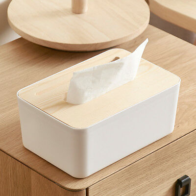 1 PC Tissue Box Creative Phone Holder with Wooden Cover for Living Room Bedroom