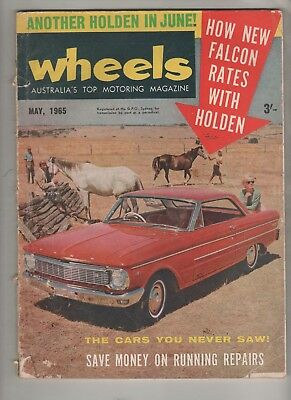 Wheels 1965 May Falcon XP Holden X2 Mazda 800 Prince Skyline Plainsman Cord, Due