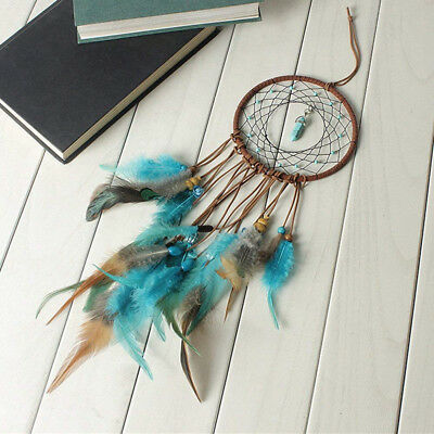 Handmade Dream Catcher with Feather Wall Car Home Hanging Decor Ornament