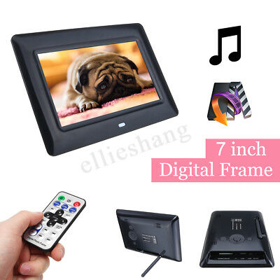 7'' TFT LCD HD Digital Photo Audio Video Music Clock Frame Auto Player W/ Remote