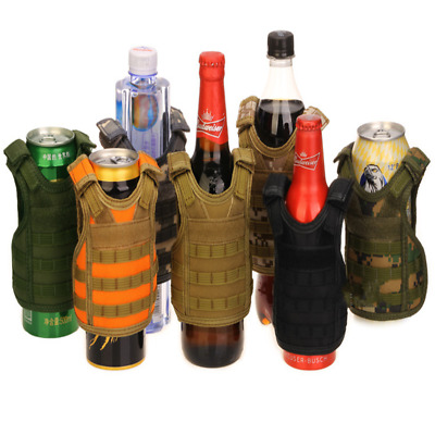 Outdoor Tactical Military Mini Vest Beer Beverage Water Bottle Cans Cup Holder