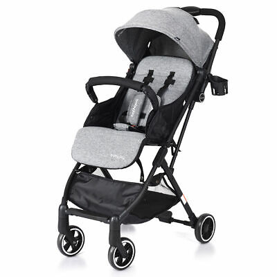 Foldable Baby Stroller Lightweight Kids Carriage Pushchair W/ Foot Cover Gray