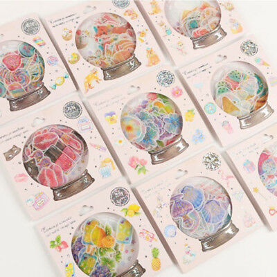 Style Candy Stickers Scrapbooking Crystal Ball Cat Diary Stationery Decoration