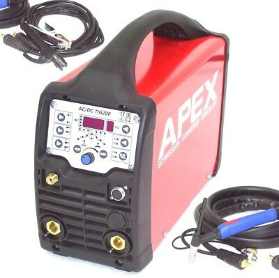 13740 WELDER TIG AC/DC 200 PULSE HF INVERTER ARC STICK AC DC  welding machine