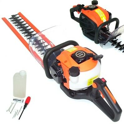 55448 Petrol Hedge Trimmer 26cc 600mm Blades Brush Cutter