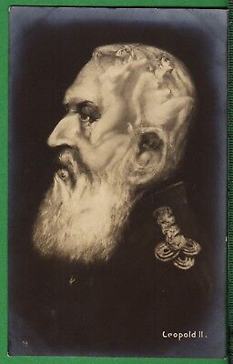 Postcard ~ FANTASY HEAD of LEOPOLD II Images of NAKED WOMEN ~ 1910