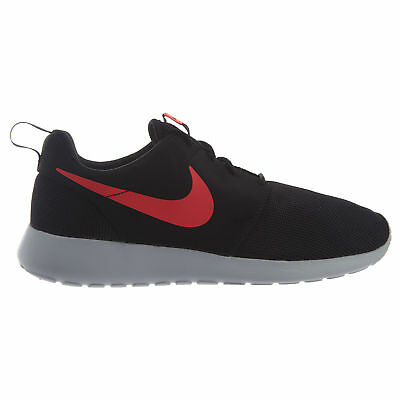 a91e6d1c8682a Nike Roshe One Mens 511881-039 Black Solar Red Platinum Running Shoes Size  10