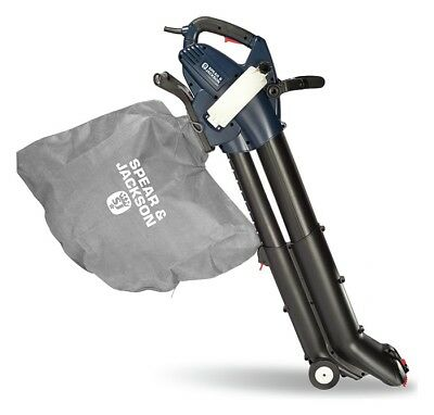 Spear and Jackson Corded Garden Blower and Vac - 3000w