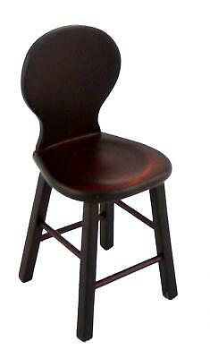 Dolls House Mahogany Bar Stool High Chair Miniature Kitchen Pub Furniture 1:12