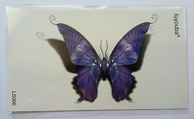 PURPLE BUTTERFLY TEMPORARY TATTOO (BRAND NEW) 110mm X 60mm LS066