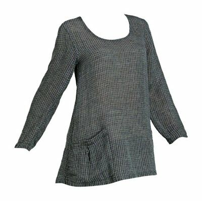 FLAX  Designs  LINEN  Go to  JACKET  S /&  M /&  L  NWOT    Windowpane  CLEARANCE