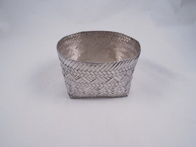 Tane Sterling Silver Mexico Mexican Large Size Woven Basket