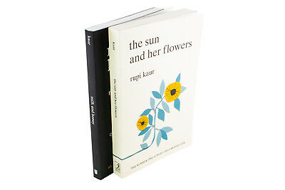 Rupi Kaur 2 Book Collection, The Sun and Her Flowers, Milk and Honey, Poetry