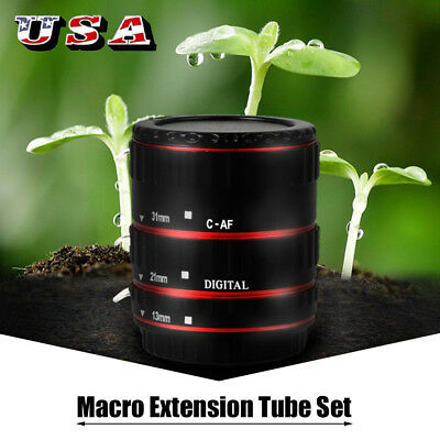 Macro Extension Tube Ring Auto Focus Adapter Tube Ring for Canon EOS EF Lens New
