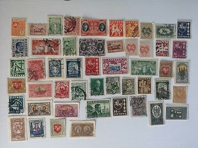 100 Different Lithuania Stamp Collection - Pre 1940