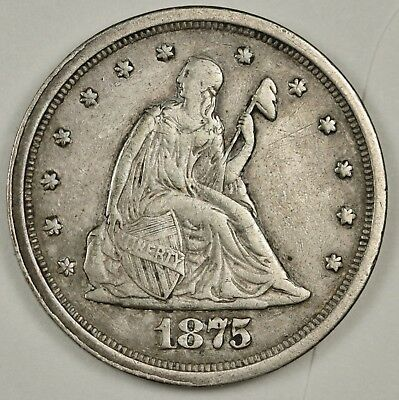 1875-s 20 Cent Piece.  Natural X.F.  131196