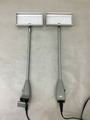 Lot of 2 Skyline LED Light Tradeshow Booth Display 34963-Silver-120 Two Lights