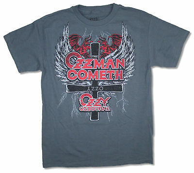 Ozzy Osbourne Ozzman Cometh Grey T Shirt New Official Merch