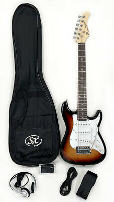 SX RST 1/2 3TS Electric Guitar Package 1/2 Size w/Strap Bag& Instructional Video