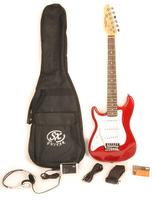 SX RST 1/2 CAR Left Handed Guitar Package 1/2 Size w/Strap & Instructional Video