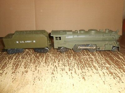 Vintage Marx 666 Army Locomotive and Tender 0 gauge