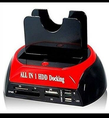 "Docking Station 3 In 1 Hard Disk Sata Ide 3.5"" - 2,5""  Lettore Hdd Box Case"