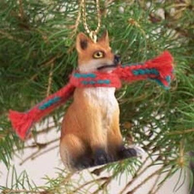 RED FOX Ornament resin Figurine statue Christmas Holiday WILD ANIMAL COLLECTIBLE
