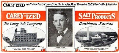 Carey-Ized Salt Products advertising ink blotter 1920s