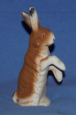 "Vintage German Paper Mache "" Easter Rabbit / Bunny Candy Container "" 6-3/4"" Tall"