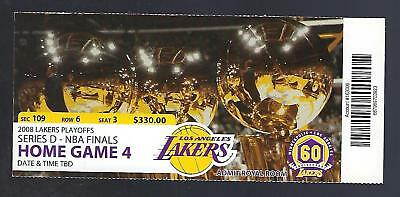 2007-2008 Nba Finals Celtics @ Lakers Full Unused Basketball Ticket Game #7