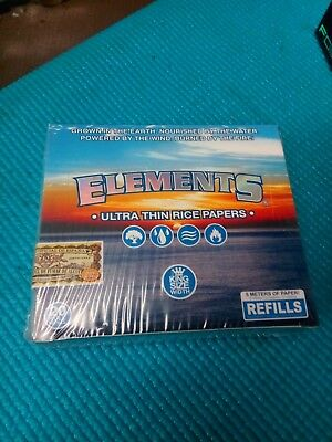 Elements Twenty Roll Refills Ultra Thin Rice Kings Size Papers