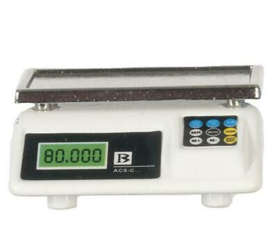 Dolls House Modern Digital Weighing Scales 1:12 Shop Kitchen Store Accessory