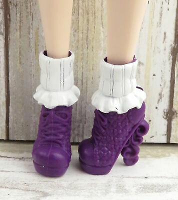 EVER AFTER HIGH SCHOOL SPIRIT RAVEN /& APPLE DOLL REPLACEMENT PURPLE BOOTS SHOES