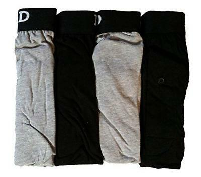 NIP - IZOD Men's KNIT BOXERS Black / Gray 4 PACK - M (32-34)
