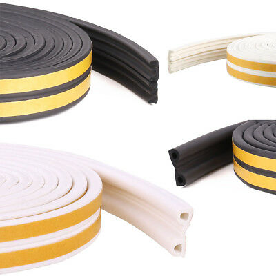 5/10 Foam Draught EDP 3 Shapes Excluder Weather Seal Strip Door Window Tape Home