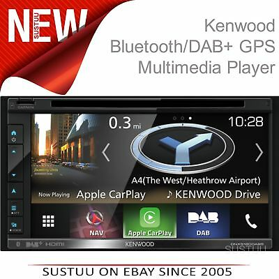 Kenwood 2 Din Multimediale Lettore │ GPS /Bluetooth/Apple Carplay │ Dnx-5180dabs